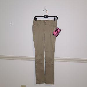 NWT Dickies Classic Skinny Khaki Pant 0